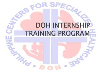 DOH INTERNSHIP TRAINING PROGRAM