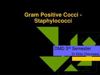 Gram Positive Cocci - Staphylococci