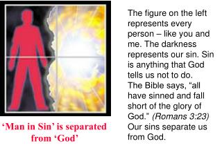 Man in Sin  is separated from  God