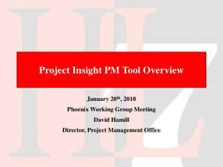 Project Insight PM Tool Overview