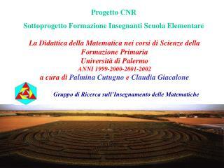 La Didattica della Matematica nei corsi di Scienze della Formazione Primaria Universit  di Palermo ANNI 1999-2000-2001-2