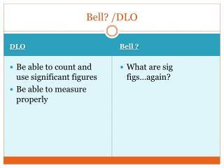 Bell? /DLO