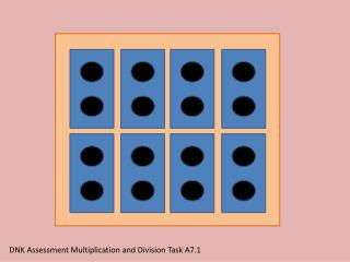DNK Assessment Multiplication and Division Task A7.1