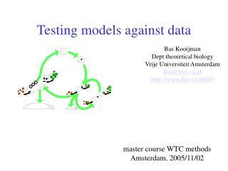 Testing models against data