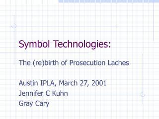 Symbol Technologies: