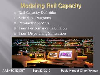 Rail Capacity Definition Stringline Diagrams Parametric Models Train Performance Calculators