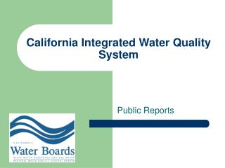 California Integrated Water Quality System