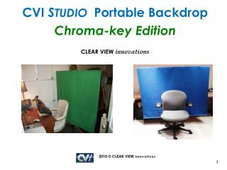 CVI  S TUDIO   Portable Backdrop Chroma-key Edition CLEAR VIEW  innovations