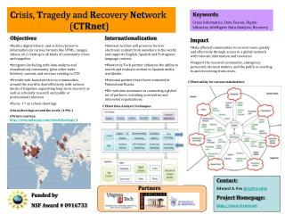 C risis,  T ragedy and  R ecovery  Net work 	               ( CTRnet )