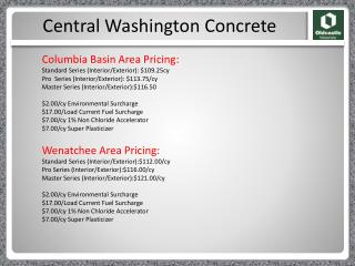 Central Washington Concrete