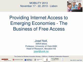 MOBILITY 2013 November 17 - 22, 2013 - Lisbon