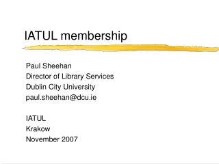 IATUL membership