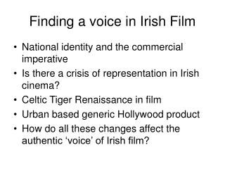 Finding a voice in Irish Film