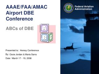 AAAE/FAA/AMAC  Airport DBE Conference