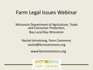 Farm Legal Issues Webinar