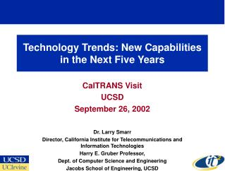 Technology Trends: New Capabilities in the Next Five Years