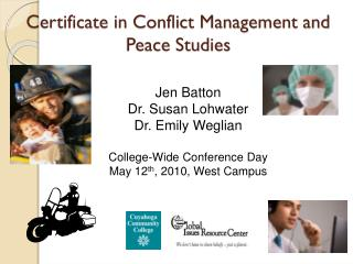 Certificate in Conflict Management and Peace Studies