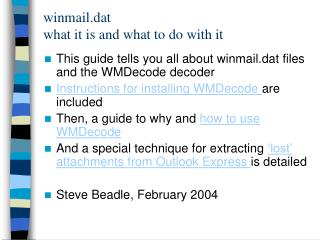 winmail.dat  what it is and what to do with it