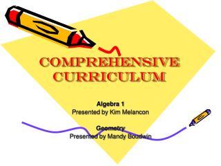 Comprehensive Curriculum