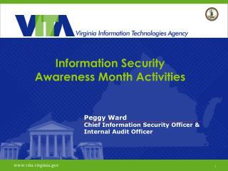Information Security  Awareness Month Activities
