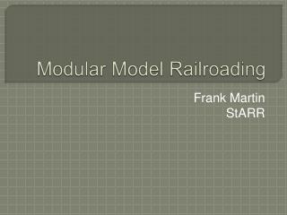 Modular Model Railroading