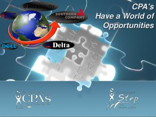 CPA's  Have a World of Opportunities