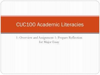 CUC100 Academic Literacies
