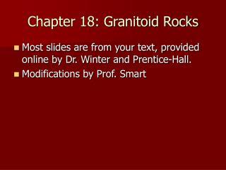 Chapter 18: Granitoid Rocks