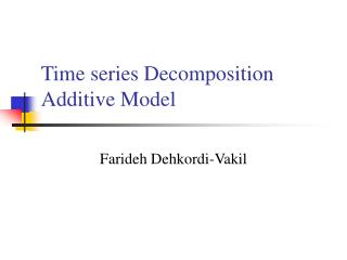 Time series Decomposition Additive Model