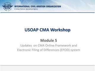 USOAP CMA Workshop
