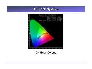 The CIE System