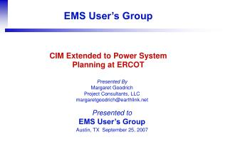 CIM Extended to Power System Planning at ERCOT