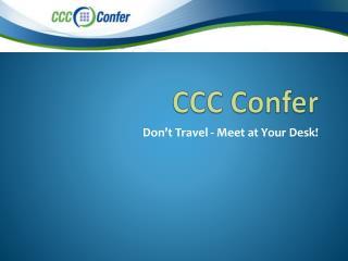 CCC Confer