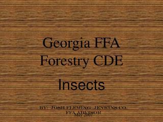 Georgia FFA Forestry CDE