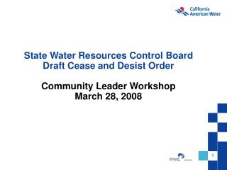 State Water Resources Control Board (SWRCB) Order 95-10