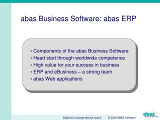 abas Business Software: abas ERP