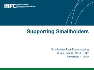 Supporting Smallholders