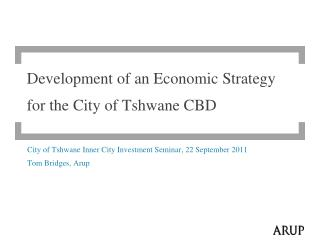 Development of an Economic Strategy for the City of Tshwane  CBD