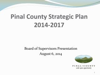 Pinal County Strategic Plan 2014-2017