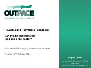 Reusable and Recyclable Packaging: Can this be applied to the  food and drink sector?