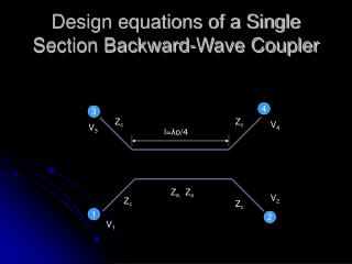 Design equations of a Single Section Backward-Wave Coupler
