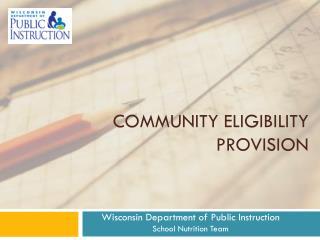 Community Eligibility Provision
