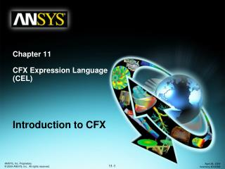Chapter 11 CFX Expression Language (CEL)