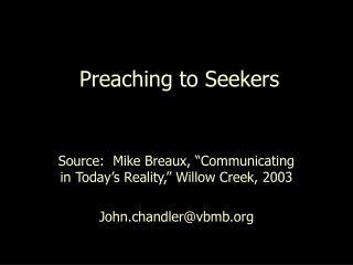 Preaching to Seekers