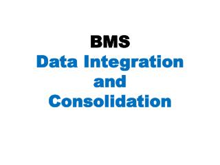 BMS Data Integration and Consolidation