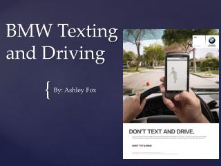 BMW Texting and Driving