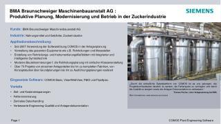 Kunde : BMA Braunschweiger Maschinenbauanstalt AG
