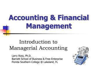 Accounting & Financial Management