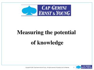 Measuring the potential  of knowledge