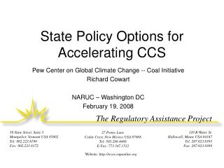 State Policy Options for Accelerating CCS